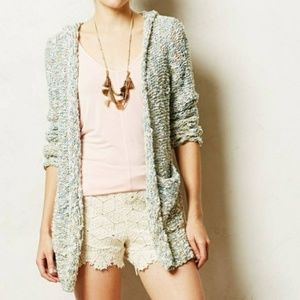 Anthropologie | Moth Marled Knit Hooded Cardigan